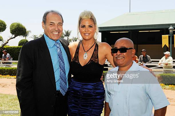 Phil Daniels Josie Goldberg and Walther Solis attend the debut of reality TV star and playboy model Josie Goldberg's personal race horse at Hollywood...