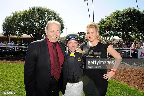 Phil Daniels Tyler Baze and Josie Goldberg attend Reality TV Personality Josie Goldberg and her race horse SpoiledandEntitled's race at Santa Anita...