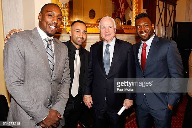 Phil Davis former All American Wrestler Bellator MMA fighter Paulie Malignaggi former welterweight world boxing champion Sen John McCain and Austin...