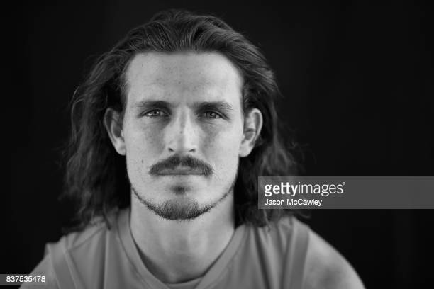Phil Davis of the Giants poses during a Greater Western Sydney Giants AFL media opportunity at Sydney Olympic Park on August 23 2017 in Sydney...