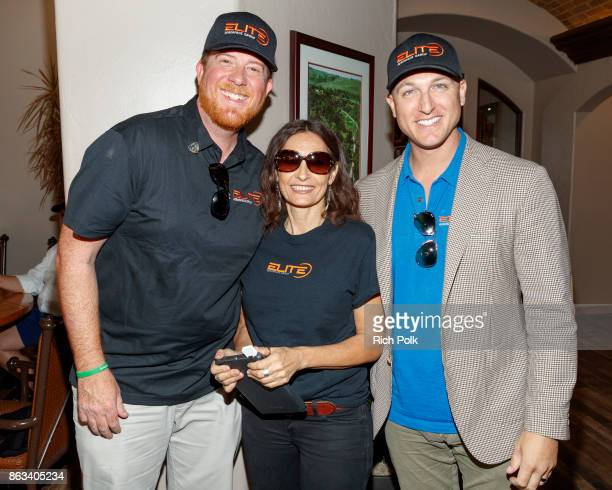 Phil Dixon Bernadette Ratti and Dustin Tillman attend the Swing Fore The Vets Charity Golf Tournament on October 19 2017 in Rancho Santa Margarita...