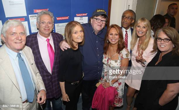 Phil Donahue Harvey Fierstein Gloria Steinem Michael Moore Marlo Thomas Al Sharpton Christie Brinkley and Rosie O'Donnell pose backstage at the...