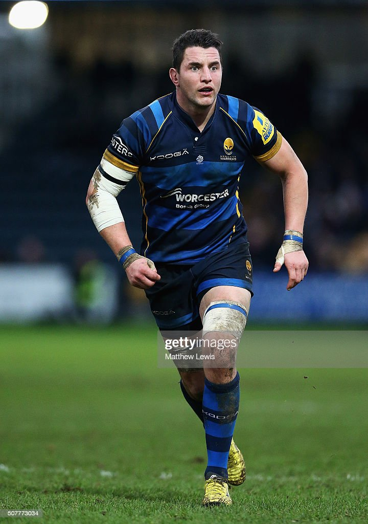 Phil Dowson of Worcester Warriors in action during the Aviva Premiership match between Worcester Warriors and Exeter Chiefs at Sixways Stadium on...