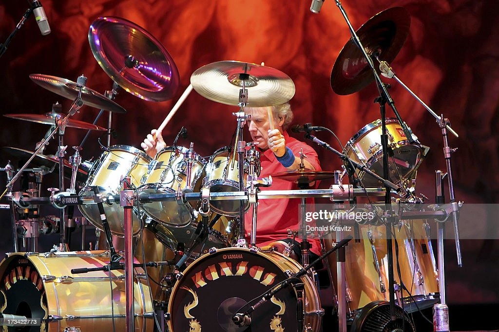 Phil Ehart, drummer for Kansas performs at Tropicana Showroom on July 13, 2013 in Atlantic City, New Jersey.