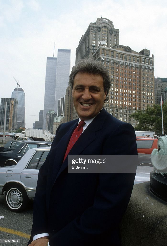 <a gi-track='captionPersonalityLinkClicked' href=/galleries/search?phrase=Phil+Esposito&family=editorial&specificpeople=214575 ng-click='$event.stopPropagation()'>Phil Esposito</a> poses for a portrait in front of the World Trade Center in September, 1986 in New York, New York.