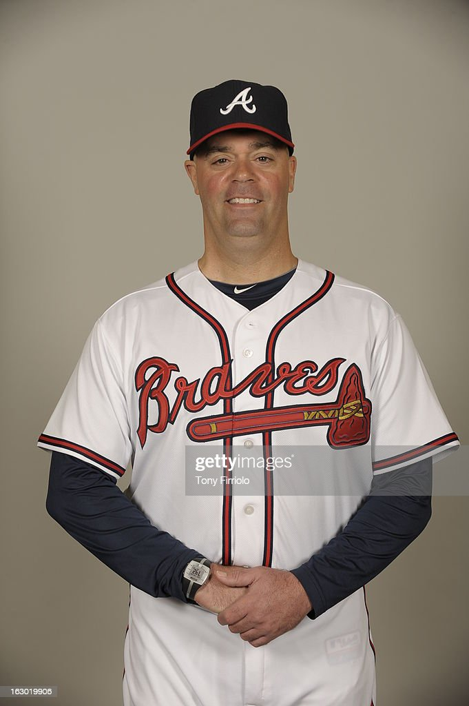 Phil Falco #60 of the Atlanta Braves poses during Photo Day on Wednesday, February 20, 2013 at Champion Stadium in Lake Buena Vista, Florida.