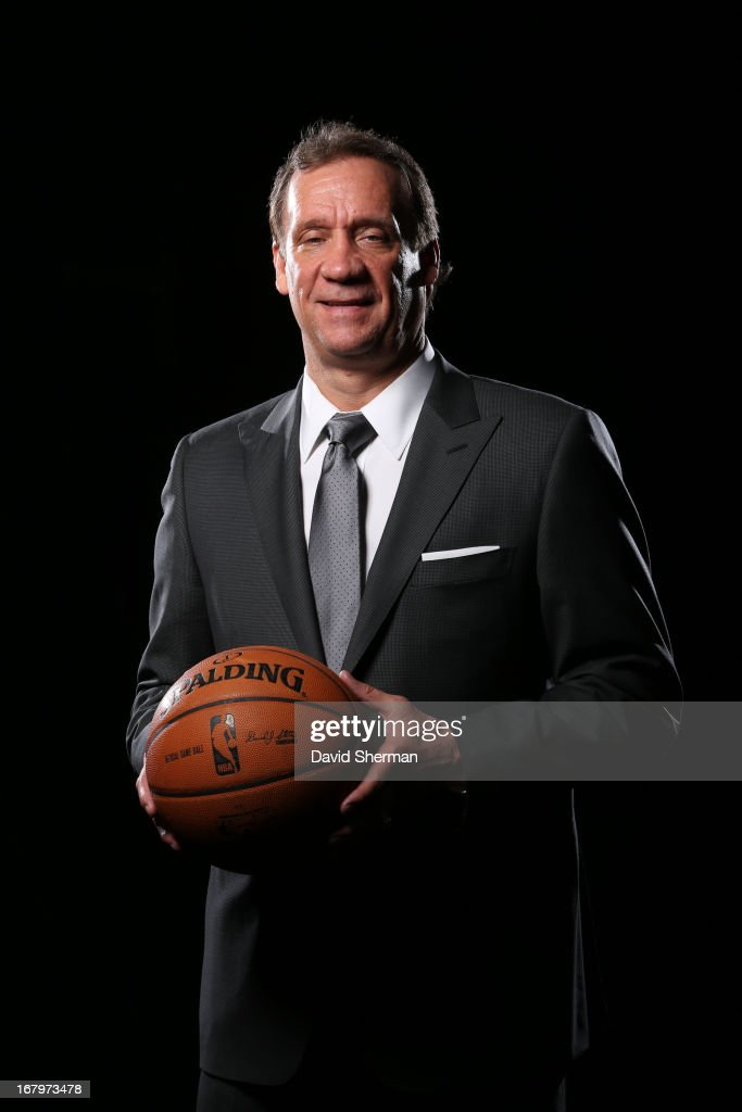Phil 'Flip' Saunders new President of Basketball Operations of the Minnesota Timberwolves poses for portraits on May 3 2013 at Target Center in...