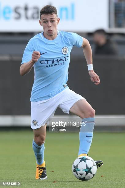 Phil Foden of Manchester City U19 during the UEFA Youth League match between Feyenoord Rotterdam U19 and Manchester City U19 at the van Donge de Roo...
