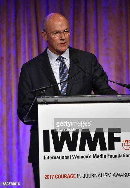 Phil Griffin speaks onstage at The International Women's Media Foundation's 28th Annual Courage In Journalism Awards Ceremony at Cipriani 42nd Street...