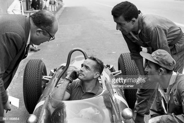 Phil Hill Ferrari 156 Sharknose Grand Prix of Belgium Circuit de SpaFrancorchamps 18 June 1961 Phil Hill and Ferrari engineer Carlo Chiti