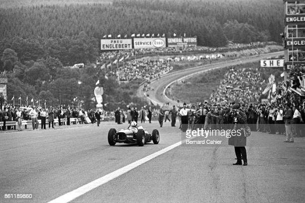 Phil Hill Ferrari 156 Sharknose Grand Prix of Belgium Circuit de SpaFrancorchamps 18 June 1961 Phil Hill right after winning the 1961 Grand Prix of...