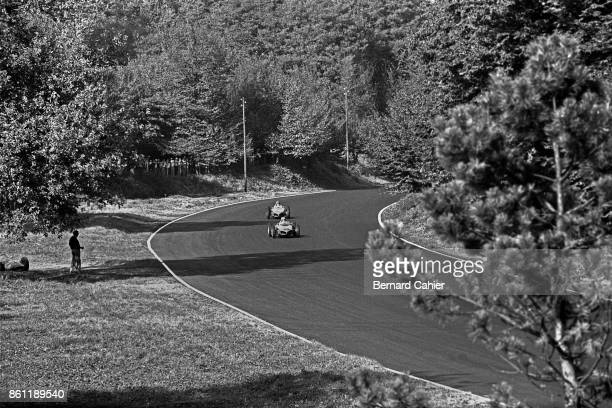 Phil Hill Richie Ginther Ferrari 156 Sharknose Grand Prix of Italy Autodromo Nazionale Monza 10 September 1961 Racing in the Parco di Monza Phil Hill...