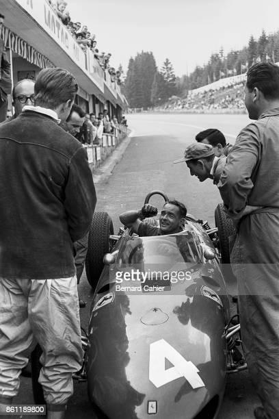 Phil Hill Wolfgang von Trips Ferrari 156 Sharknose Grand Prix of Belgium Circuit de SpaFrancorchamps 18 June 1961 Phil Hill and teammate Wolfgang von...