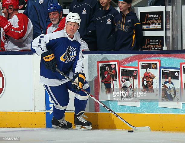 Phil Housley skates in the Legends Classic game at the Air Canada Centre on November 8 2015 in Toronto Ontario Canada