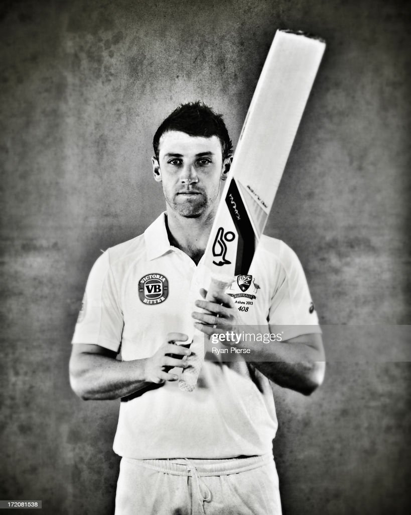 Phil Hughes of Australia poses on July 1, 2013 in Worcester, England.