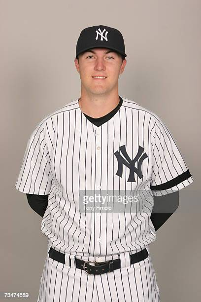 Phil Hughes of the New York Yankees poses during photo day at Legends Field on February 23 2007 in Tampa Florida