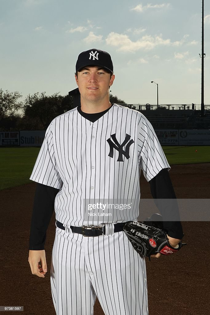 Phil Hughes #65 of the New York Yankees poses for a photo during Spring Training Media Photo Day at George M. Steinbrenner Field on February 25, 2010 in Tampa, Florida.