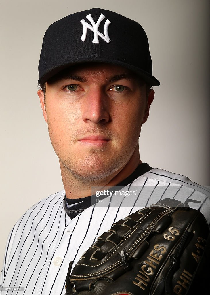 Phil Hughes #65 of the New York Yankees poses for a portrait on February 20, 2013 at George Steinbrenner Stadium in Tampa, Florida.