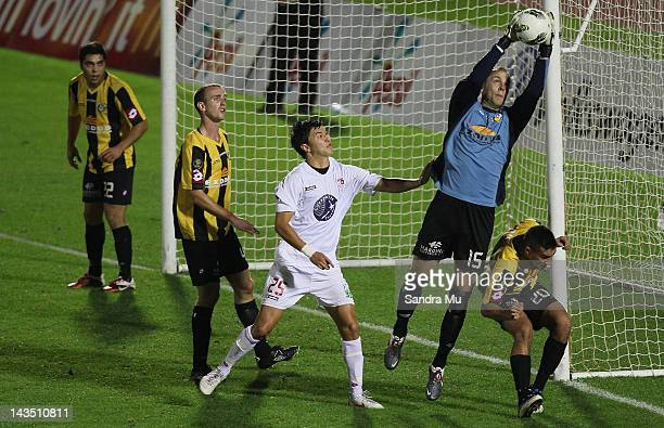 Phil Imray of Wellington saves a goal during the 2012 ASB Premiership Grand Final match between Waitakere United and Team Wellington at The Trusts...