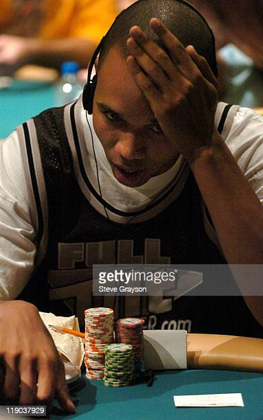 Phil Ivey takes part in day one of the World Poker Tour's Doyle Brunson North American Poker Championship at the Bellagio Hotel in Las Vegas Nevada...