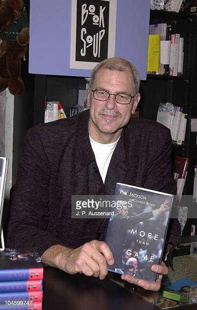 Phil Jackson during Phil Jackson Book Signing at BookSoup in Los Angeles California United States