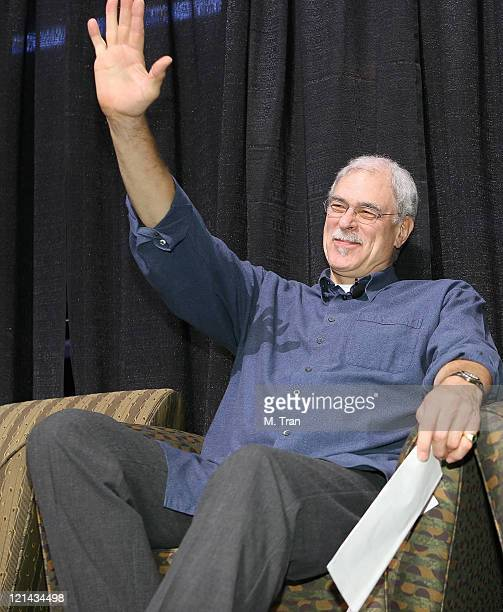 Phil Jackson during Ultimate Laker Fans Get the Inside Scoop on the Los Angeles Lakers From Phil Jackson at Staples Center in Los Angeles California...