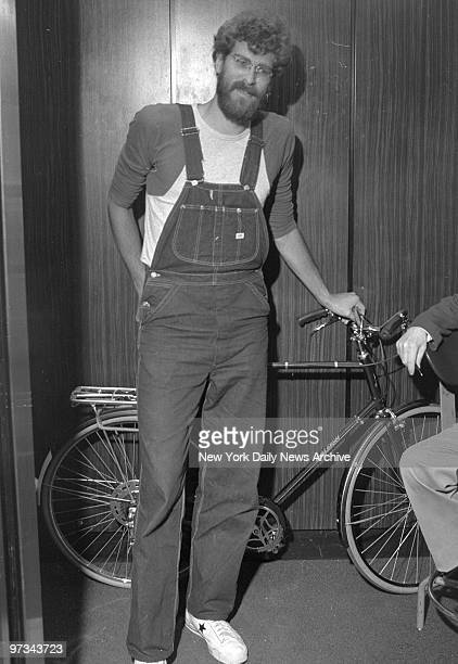 Phil Jackson stops by Knicks offices at Madison Square Garden with his bicycle on the day of the college draft