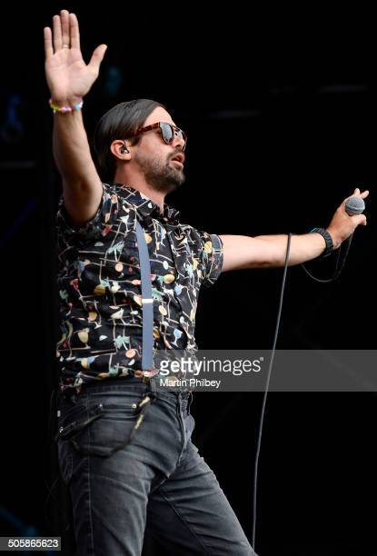 Phil Jameison of Grinspoon performs on stage at the Big Day Out on 26th January 2013 at the Flemington Racecourse in Melbourne Australia