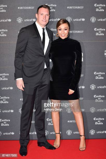 Phil Jones and Kaya Jones attend the United for Unicef Gala Dinner at Old Trafford on November 15 2017 in Manchester England