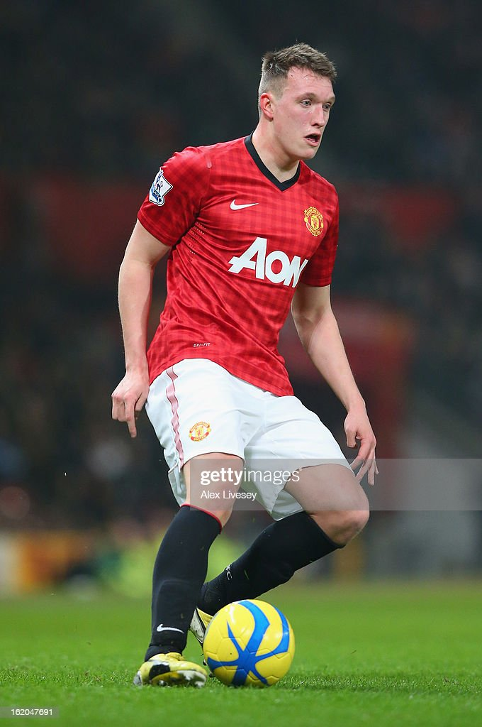 Phil Jones of Manchester United during the FA Cup Fifth Round match between Manchester United and Reading at Old Trafford on February 18, 2013 in Manchester, England.