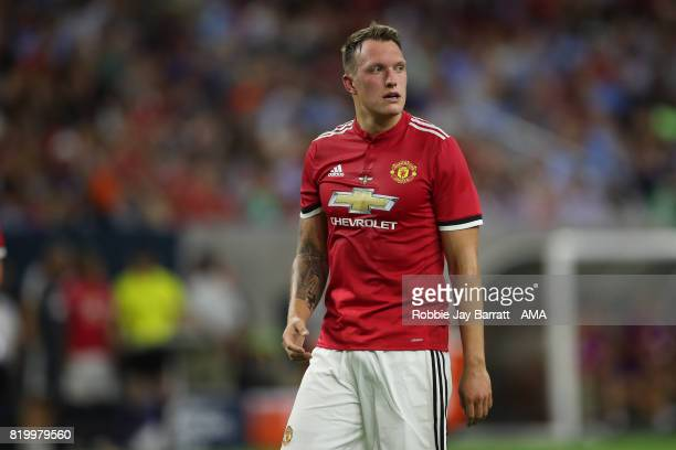 Phil Jones of Manchester United during the International Champions Cup 2017 match between Manchester United and Manchester City at NRG Stadium on...