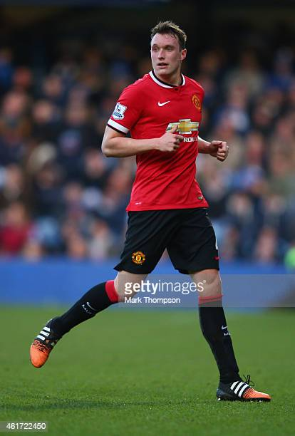 Phil Jones of Manchester United in action during the Barclays Premier League match between Queens Park Rangers and Manchester United at Loftus Road...
