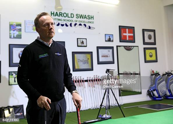 Phil Kenyon of England putting coach at his studio in the Harold Swash Putting School at Formby Hall Golf Club on February 14 2017 in Formby England