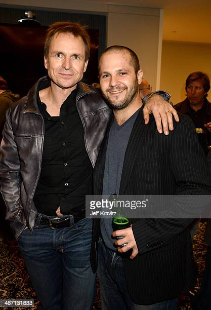 Phil Keoghan and Justin Kanew at the screening of 'Welcome to the Jungle' on February 5 2014 in Beverly Hills California