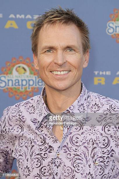 Phil Keoghan arrives at The Amazing Race 10 Year Anniversary Party at Loews Miami Beach on May 7 2011 in Miami Beach Florida