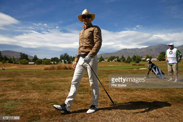 Phil Keoghan during round one of the New Zealand Open at the Millbrook Resort on February 27 2014 in Queenstown New Zealand