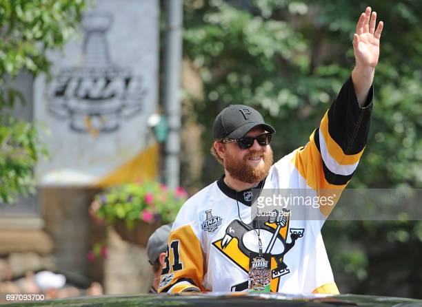 Phil Kessel of the Pittsburgh Penguins during the Victory Parade and Rally on June 14 2017 in Pittsburgh Pennsylvania