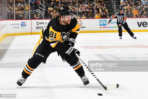 Phil Kessel of the Pittsburgh Penguins skates against the Florida Panthers at PPG Paints Arena on October 14 2017 in Pittsburgh Pennsylvania