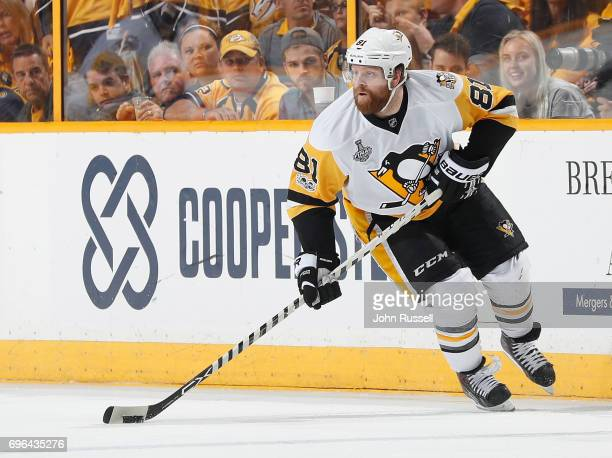 Phil Kessel of the Pittsburgh Penguins skates against the Nashville Predators during Game Six of the 2017 NHL Stanley Cup Final at Bridgestone Arena...