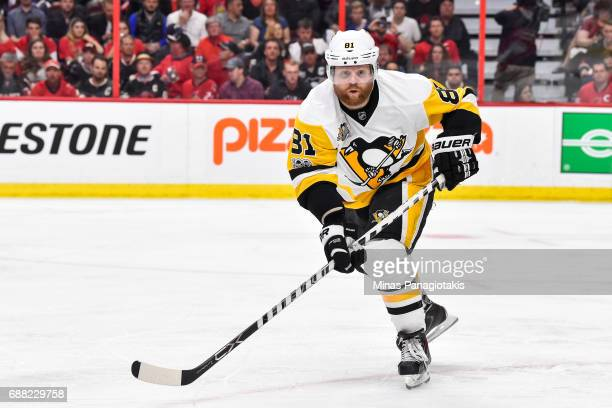 Phil Kessel of the Pittsburgh Penguins skates against the Ottawa Senators in Game Six of the Eastern Conference Final during the 2017 NHL Stanley Cup...