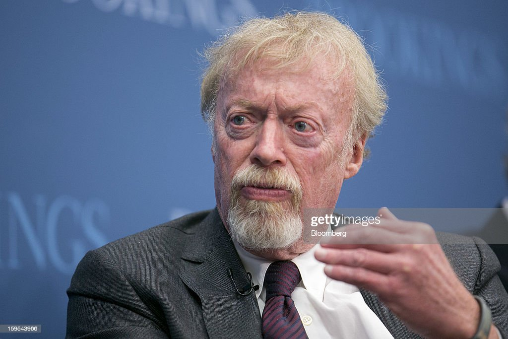 <a gi-track='captionPersonalityLinkClicked' href=/galleries/search?phrase=Phil+Knight&family=editorial&specificpeople=2278905 ng-click='$event.stopPropagation()'>Phil Knight</a>, chairman and co-founder of Nike Inc., speaks during a panel discussion at the Brookings Institution in Washington, D.C., U.S., on Tuesday, Jan. 15, 2013. The event was titled 'Fostering Growth Through Innovation.' Photographer: Andrew Harrer/Bloomberg via Getty Images