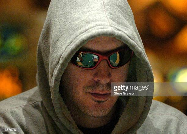 Phil Laak competes in day two of the World Poker Tour's Doyle Brunson North American Poker Championship at the Bellagio Hotel in Las Vegas Nevada...