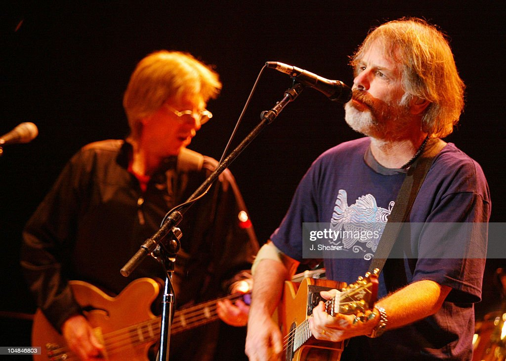 Phil Lesh and Bob Weir of The Other Ones (reunion group of the remaining members of the Grateful Dead) performs at the 16th Annual Bridge School Benefit Concert, 10/02.