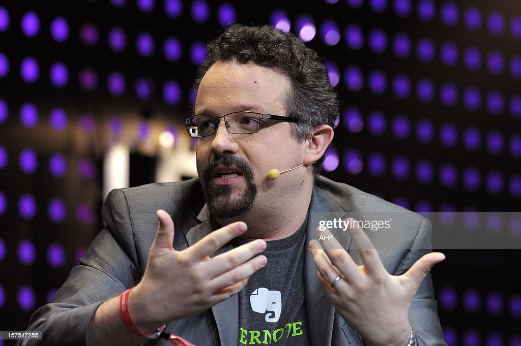Phil Libin, CEO of the company Evernote, speaks on December 4, 2012 during LeWeb Paris 2012 in Saint-Denis near Paris. Le Web is Europe's largest tech conference, bringing together the entrepreneurs, leaders and influencers who shape the future of the internet.