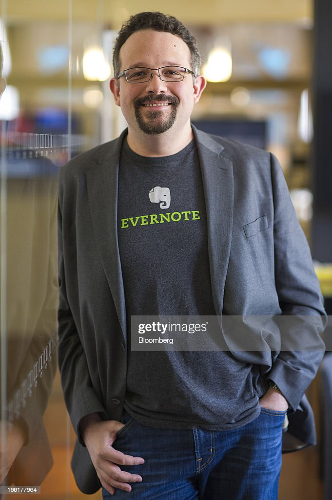 Phil Libin, chief executive officer of Evernote Corp., stands for a photograph after a Bloomberg West Television interview in San Francisco, California, U.S., on Tuesday, April. 9, 2013. Evernote Corp. develops application software that allows users to capture information in any environment using any device or platform. Photographer: David Paul Morris/Bloomberg via Getty Images