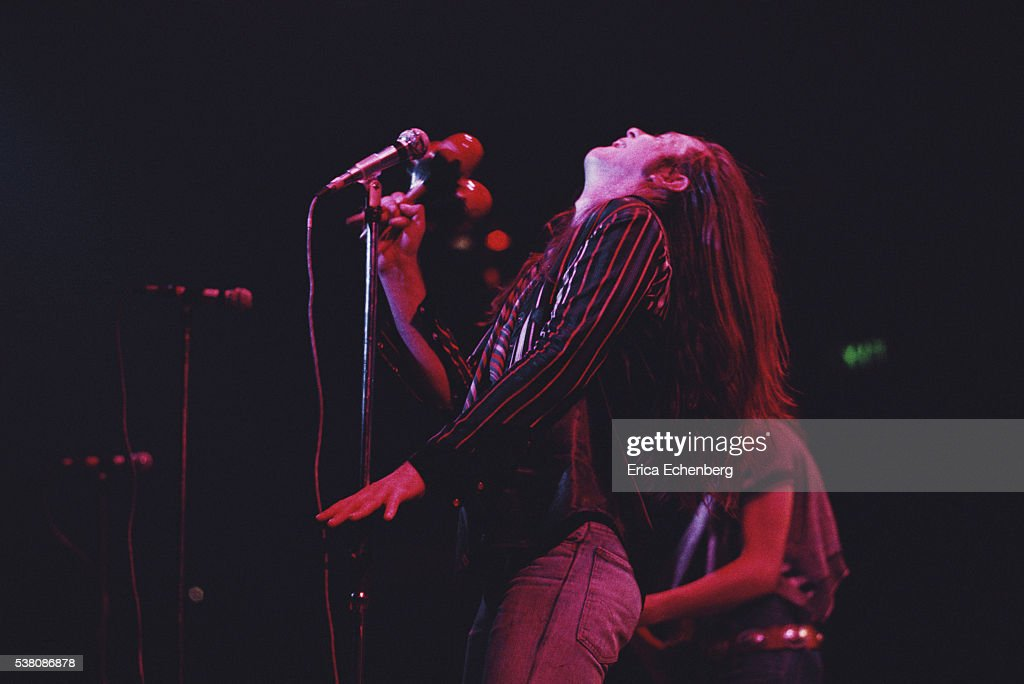 Phil May of the Pretty Things performing on stage at Olympia West Kensington London 1975