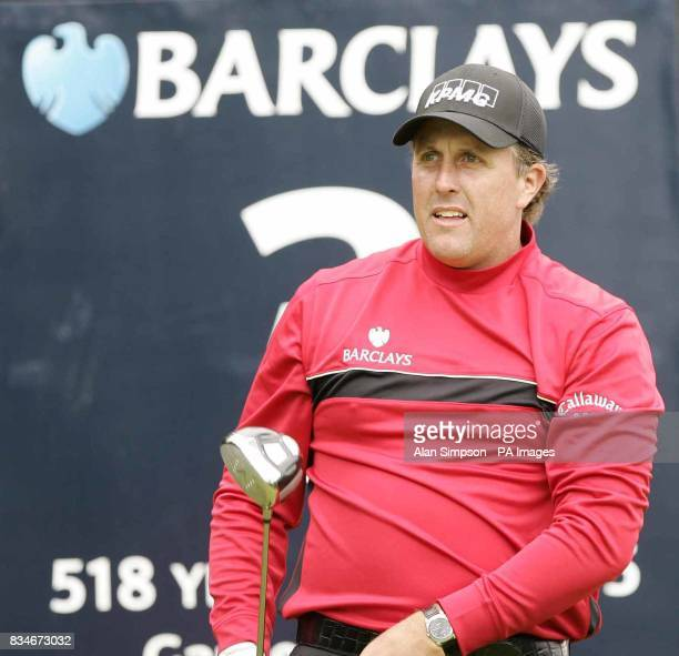 Phil Mickelson at the third during The Barclays Scottish Open at Loch Lomond Glasgow