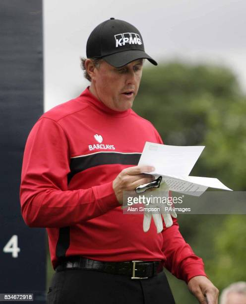 Phil Mickelson during The Barclays Scottish Open at Loch Lomond Glasgow