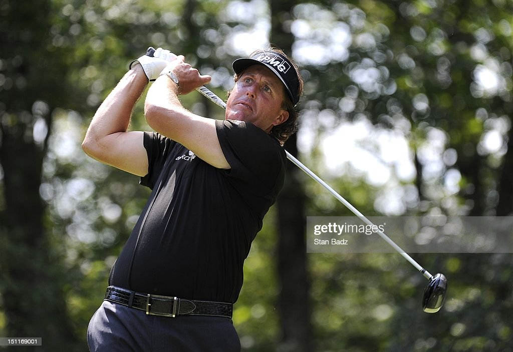 <a gi-track='captionPersonalityLinkClicked' href=/galleries/search?phrase=Phil+Mickelson&family=editorial&specificpeople=157543 ng-click='$event.stopPropagation()'>Phil Mickelson</a> hits a drive on the second hole during the third round of the Deutsche Bank Championship at TPC Boston on September 2, 2012 in Norton, Massachusetts.