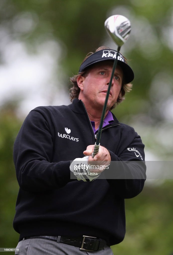 <a gi-track='captionPersonalityLinkClicked' href=/galleries/search?phrase=Phil+Mickelson&family=editorial&specificpeople=157543 ng-click='$event.stopPropagation()'>Phil Mickelson</a> hits a tee shot on the 3rd hole during the final round of the Wells Fargo Championship at Quail Hollow Club on May 5, 2013 in Charlotte, North Carolina.